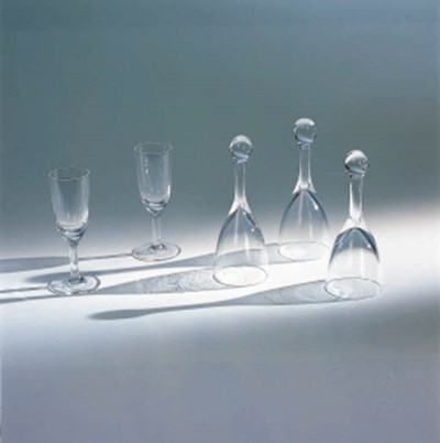 A GROUP OF COLORLESS GLASS TAB