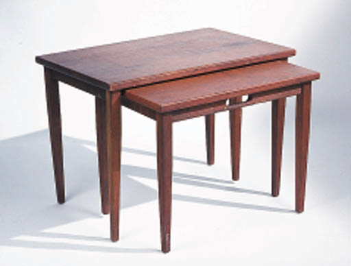 TWO SETS OF NESTING TABLES BRO
