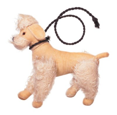 A STUFFED TOY POODLE
