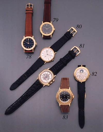 Breguet. An 18K gold wristwatc