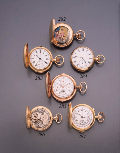 ANON. A 14K PINK GOLD HUNTER C