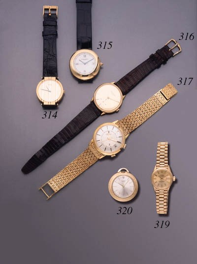 Piaget. An 18K gold wristwatch