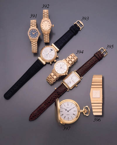 Rolex. A heavy 18K gold left-h
