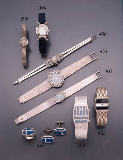 CORUM. AN 18K WHITE GOLD AND D