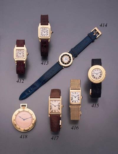 Cartier. An 18K gold openface