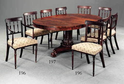 A WILLIAM IV ROSEWOOD BREAKFAS
