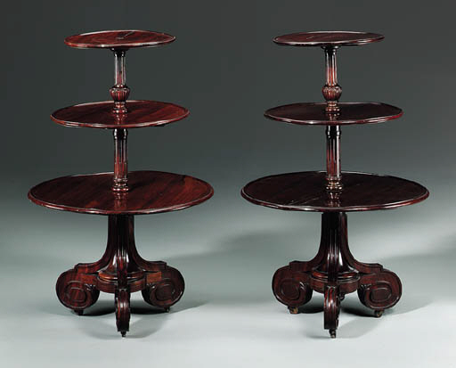 A PAIR OF FRENCH HARDWOOD DUMB
