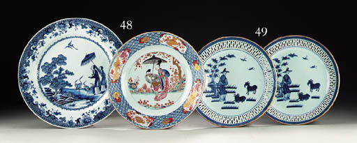 A FAMILLE ROSE LARGE PLATE AND