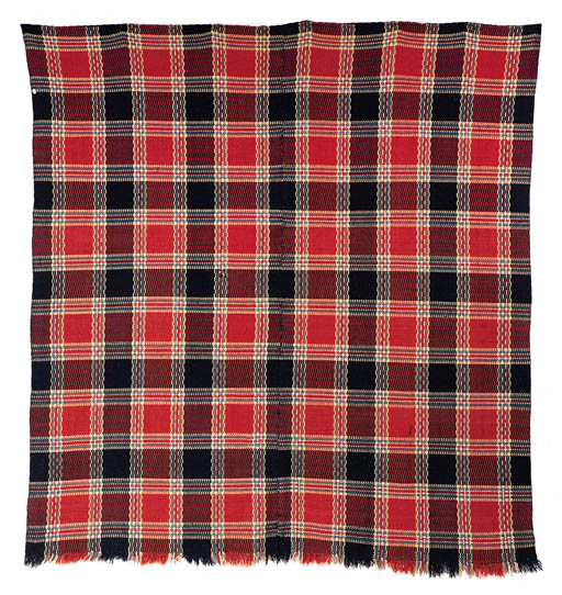 A WOVEN WOOL COVERLET