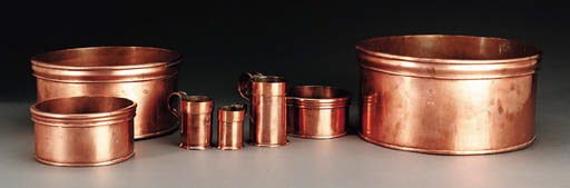 TWO SETS OF COPPER MEASURES