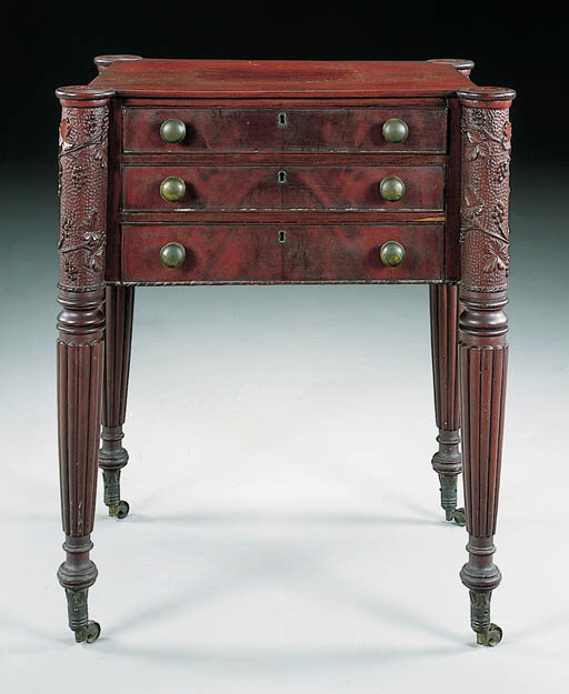 A FEDERAL CARVED MAHOGANY WORK