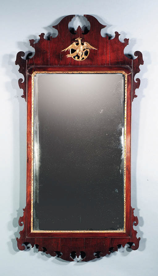 A CHIPPENDALE MAHOGANY PARCEL-