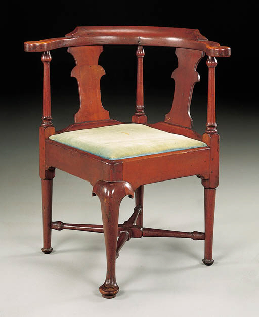 A QUEEN ANNE CARVED CHERRYWOOD