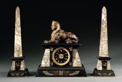 A THREE-PIECE EGYPTIAN REVIVAL