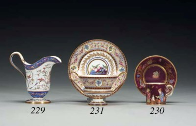 A SEVRES (HARD PASTE) MAROON-G