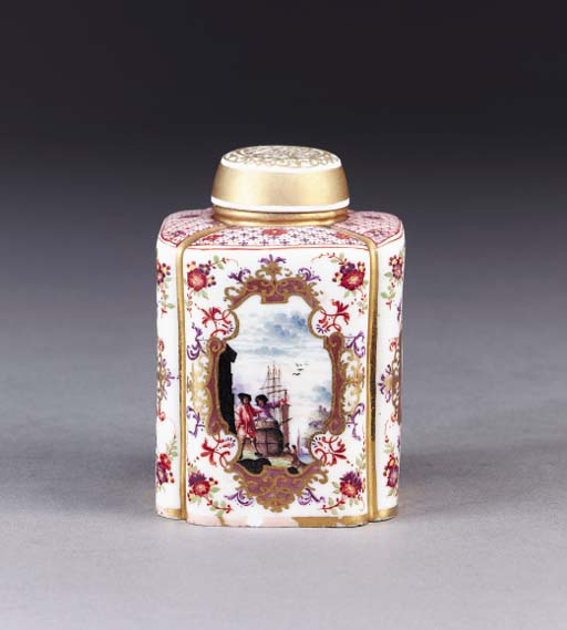 A MEISSEN CHINOISERIE LOBED TE