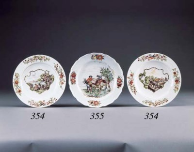 TWO MEISSEN DISHES