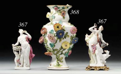 TWO MEISSEN FIGURES OF NYMPHS