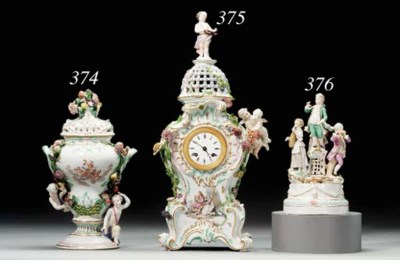 A MEISSEN FIGURE GROUP OF MUSI