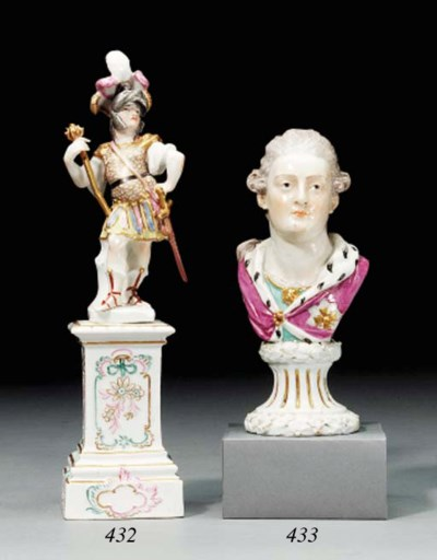 A MEISSEN FIGURE OF A ROMAN SO