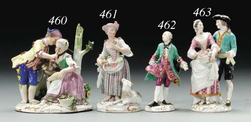 A MEISSEN FIGURE GROUP OF BARE
