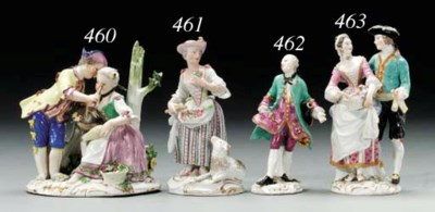 A MEISSEN FIGURE GROUP OF A SH