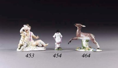 A MEISSEN MODEL OF A LEAPING F