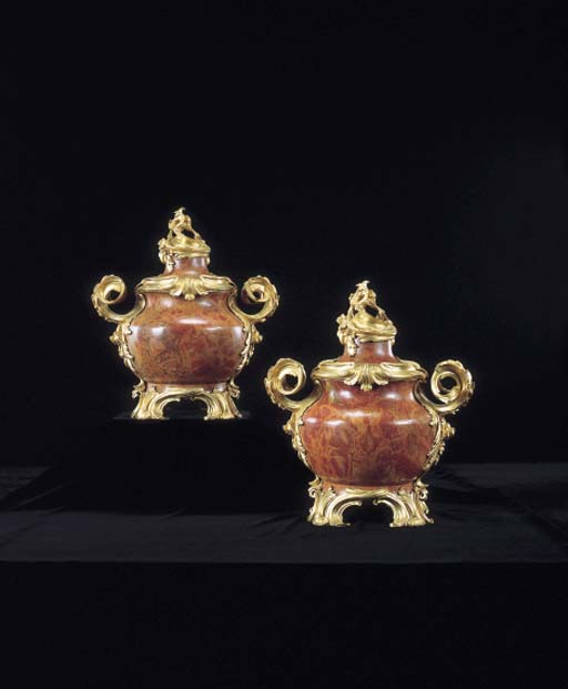 A PAIR OF LOUIS XV-STYLE ORMOL