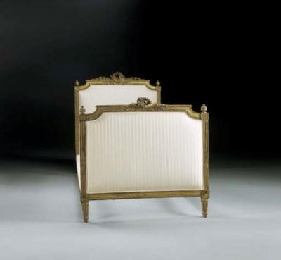 A LOUIS XVI GILTWOOD BED
