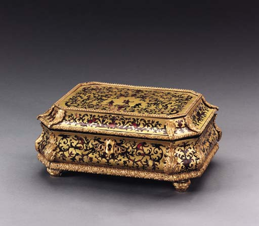 A REGENCE BOULLE BRASS-INLAID