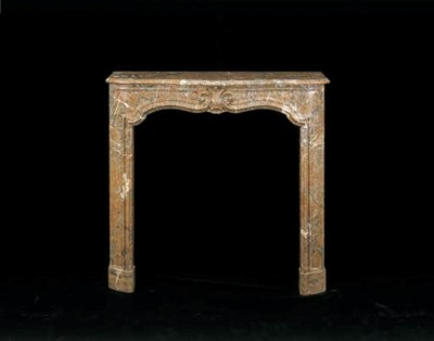 A LOUIS XV-STYLE ROUGE MARBLE