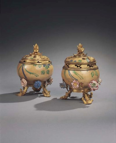 A PAIR OF REGENCE ORMOLU-MOUNT