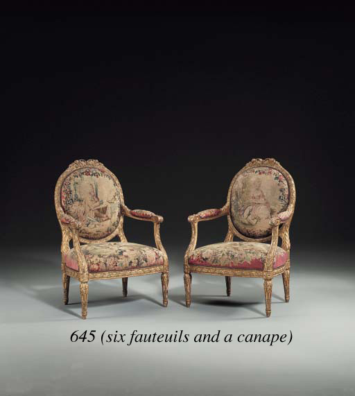 A SUITE OF LOUIS XV STYLE GILT