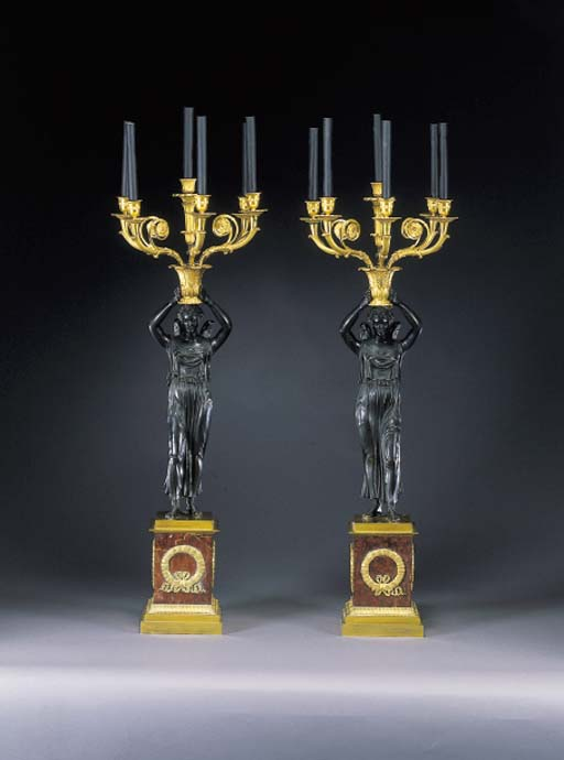 A PAIR OF CHARLES X ORMOLU, PA