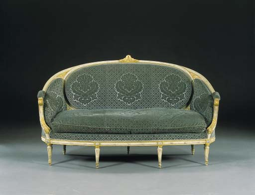 A LOUIS XVI WHITE-PAINTED AND