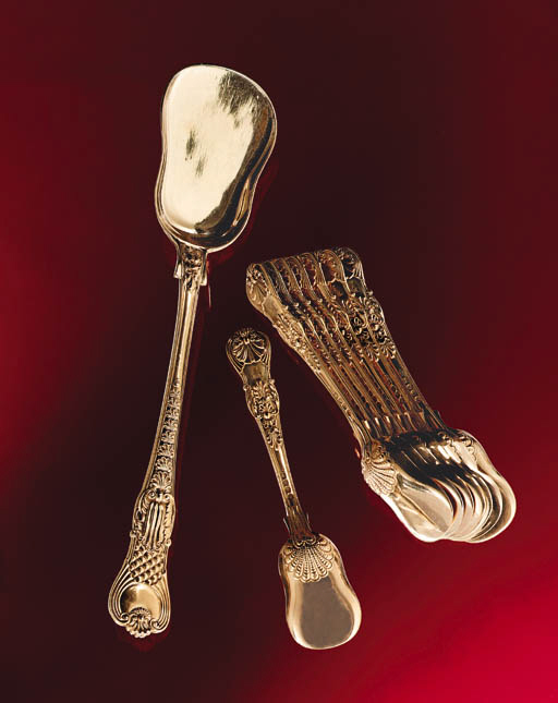 A GEORGE III SILVER-GILT ICE-C