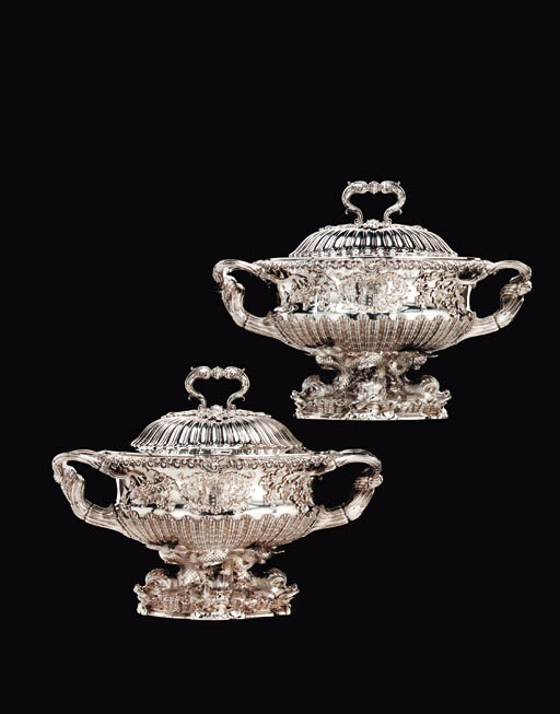 A PAIR OF GEORGE IV SILVER SOU