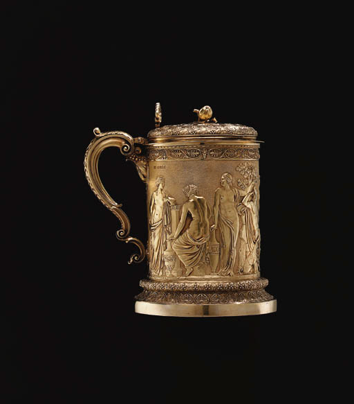 A GEORGE IV SILVER-GILT TANKAR