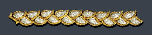 DIAMOND AND GOLD FOLIATE BRACE