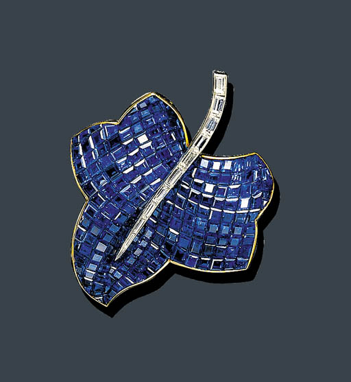 AN INVISIBLY-SET SAPPHIRE AND