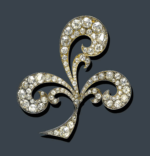 AN ANTIQUE DIAMOND BROOCH, TIF