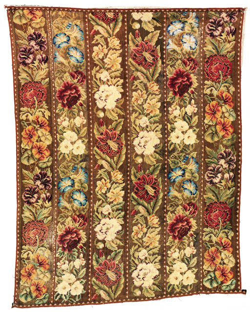 A CONTINENTAL NEEDLEPOINT RUG