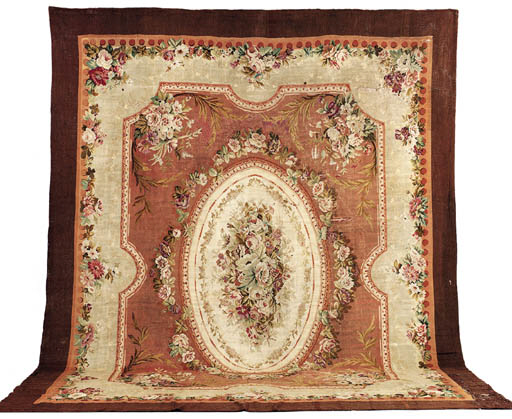 AN AUBUSSON CARPET*
