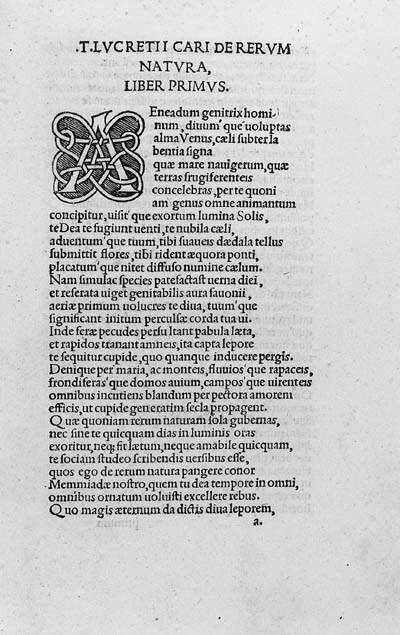TITUS LUCRETIUS CARUS. De reru