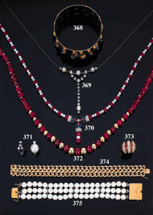 Collana in perle coltivate e r