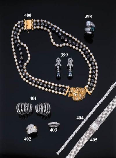 Collana in perle e perle grigi