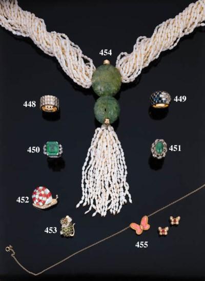 Anello con smeraldo cabochon