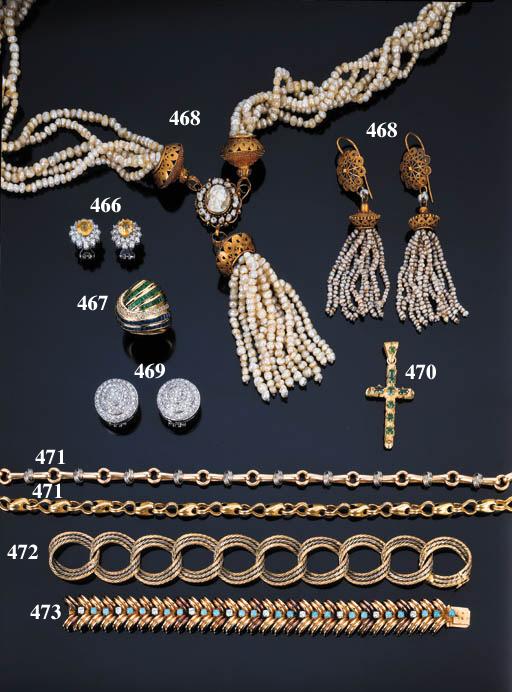 Antica parure in perle di fium