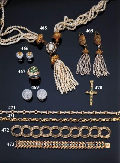 Croce con smeraldi