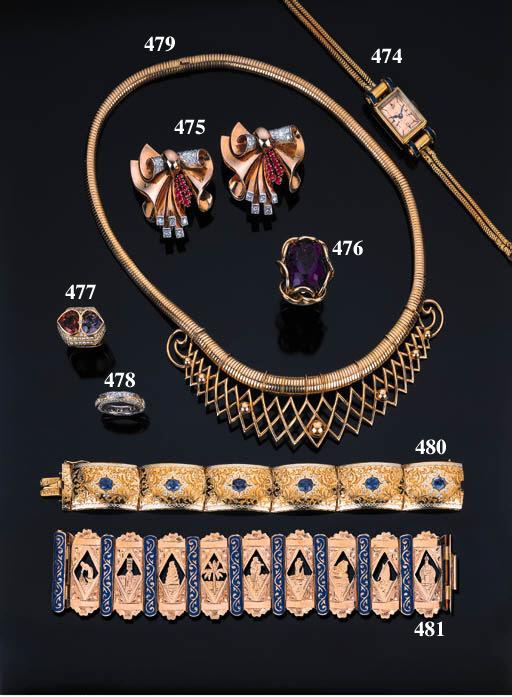 Bracciale in oro e zaffiri